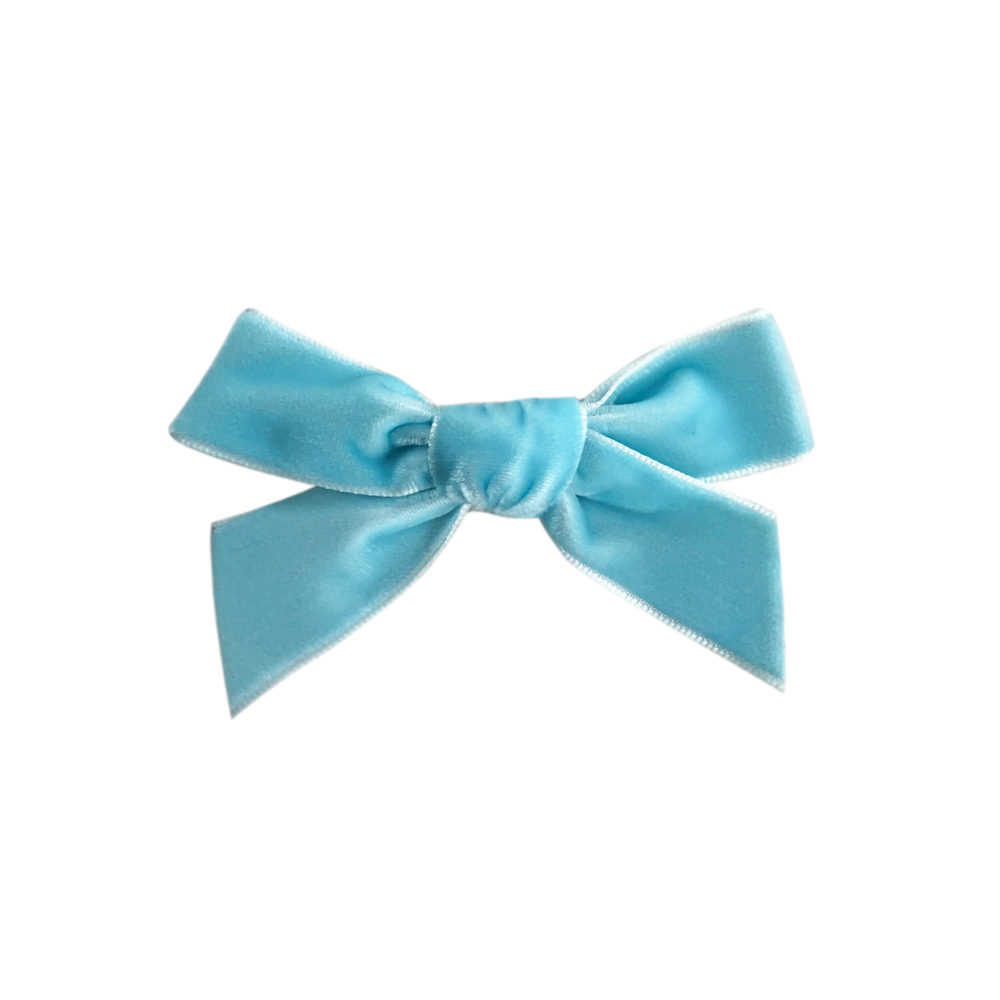 Image of Frozen French Velvet Bow Clip