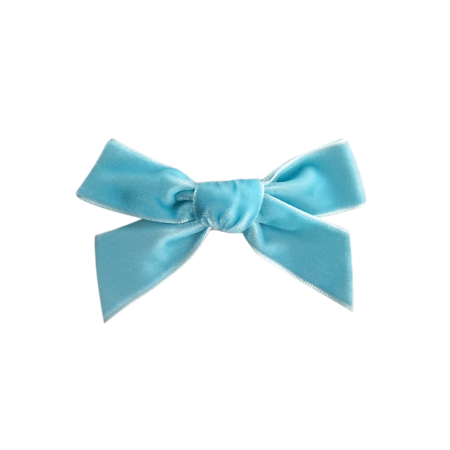 Image of Frozen French Velvet Petit Bow Clip
