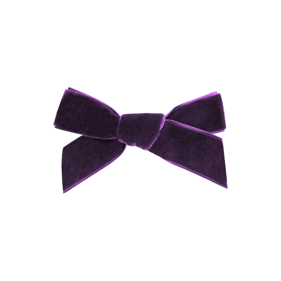 Image of Royal Purple French Velvet Bow Clip