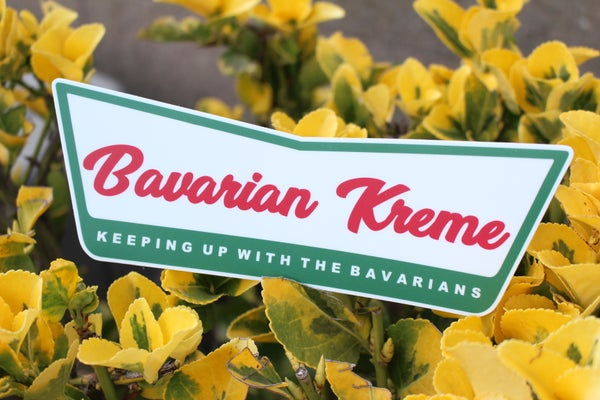 "Image of ""Bavarian Kreme"" Logo Sticker"