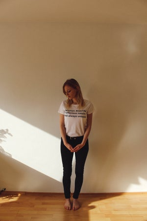 "Image of ""A Woman"" Women´s T-Shirt"