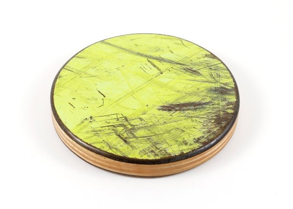 Image of Recycled Skateboard Round Drink Coaster