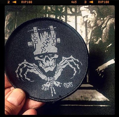 Image of FRANKENSTEIN SKULL N BONES PATCH