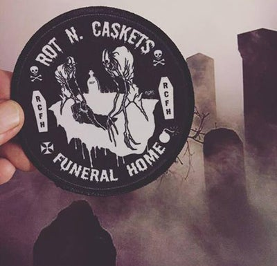 Image of ROT N CASKETS GRAVEROBBERS PATCH