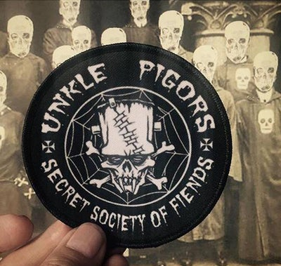 Image of UNKLE PIGORS SECRET SOCIETY OF FIENDS PATCH