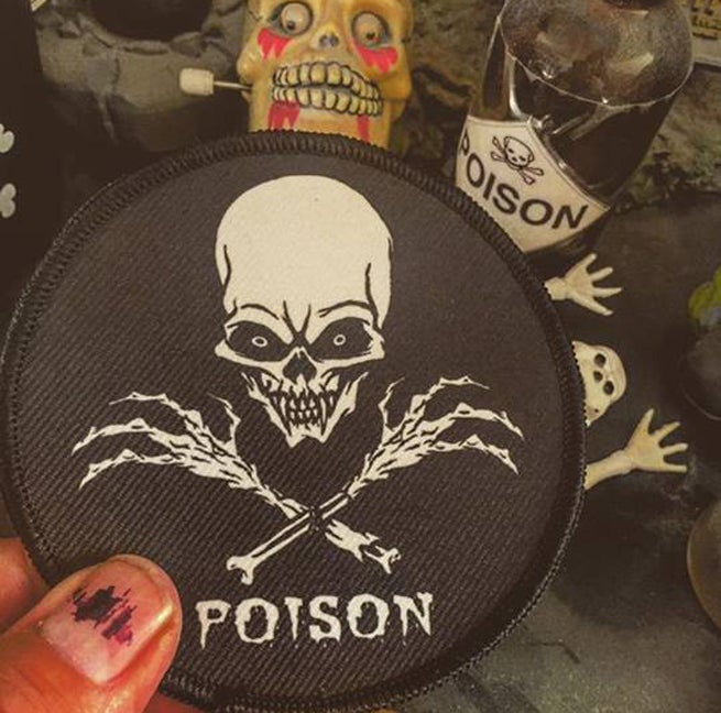 Image of POISON SKULL N BONES PATCH