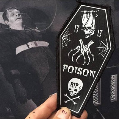Image of RIP POISON FRANKEE - COFFIN PATCH