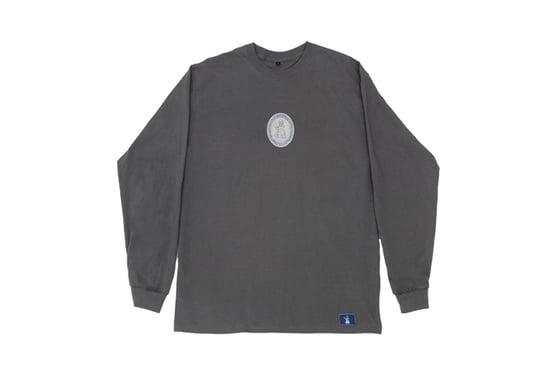 Image of Broski - Medallion Embroidered Long Sleeve Grey