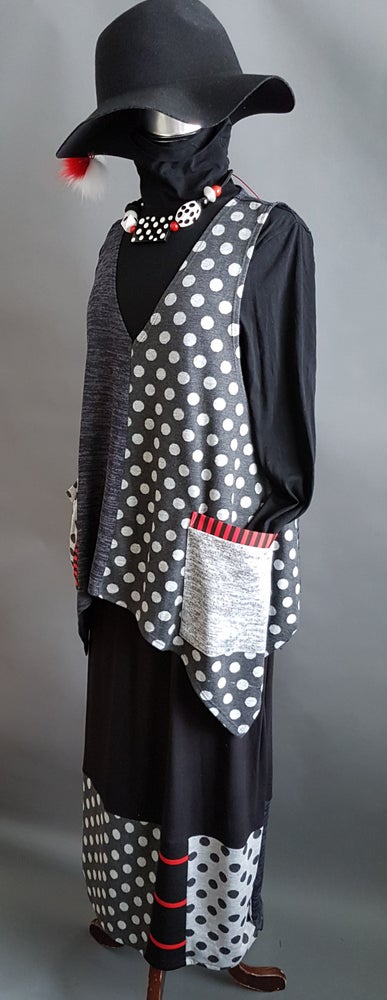 Image of Polka-dots top, dark grey