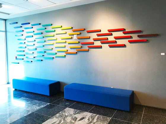 Image of 'SOARING IN FULL COLOR' | Large Wall Art Installation | Commercial Art | Branding Art