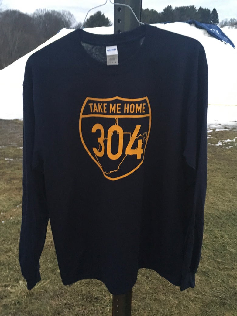 Image of Take Me Home 304 - Navy Long Sleeve T-Shirt