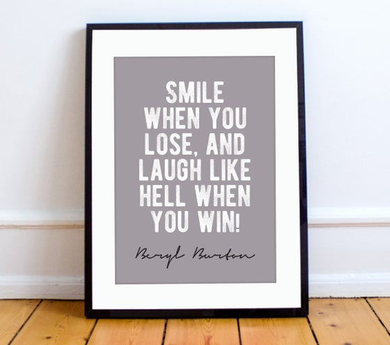 Image of Beryl Burton quote print - A4 or A3