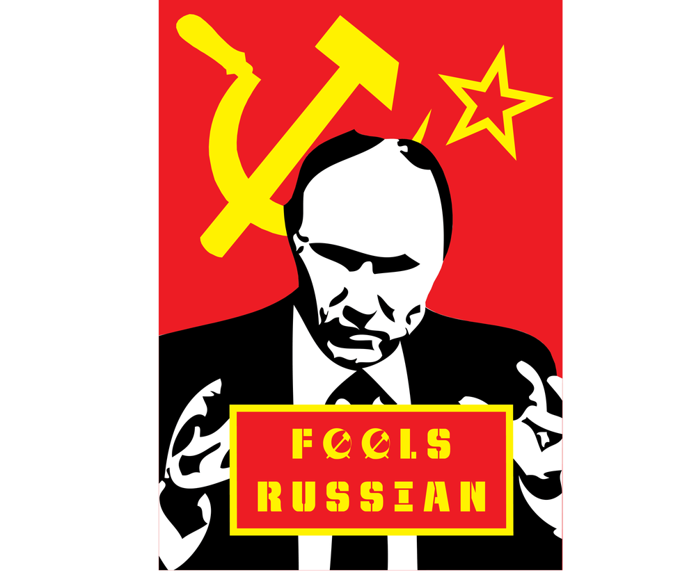 Image of Putin: fools Russian