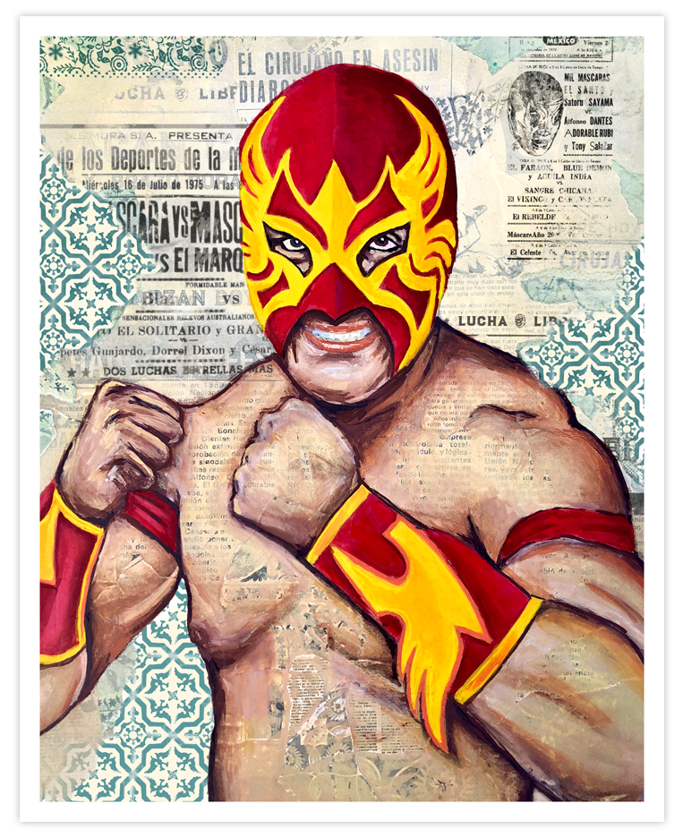 Image of Lucha - Red & Gold - Limited Ed Print