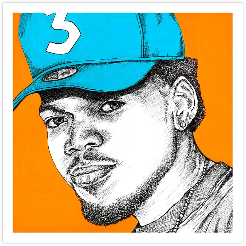 Image of Chance the Rapper - Orange Fine Art Print