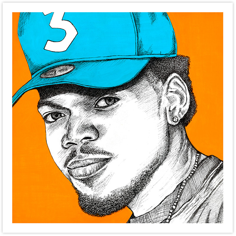 Image of Chance the Rapper - Orange Fine Art Print