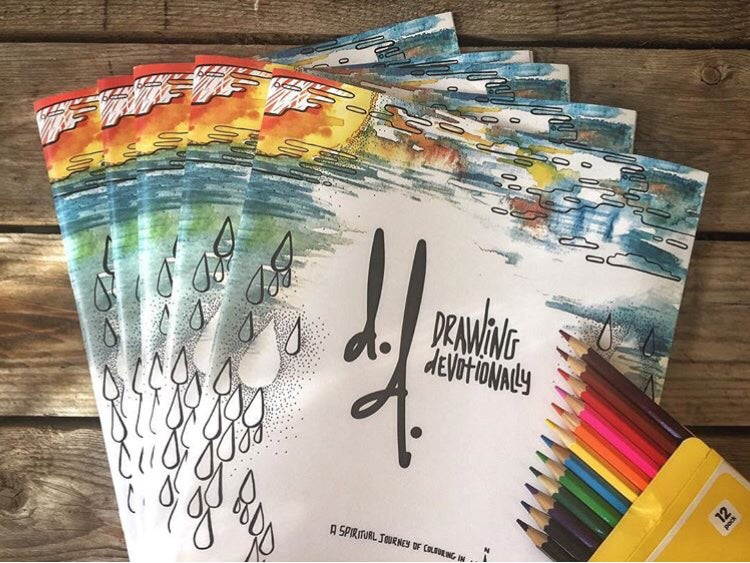 Image of 5 x BOOK BUNDLE Drawing Devotionally Colouring in Book for Adults