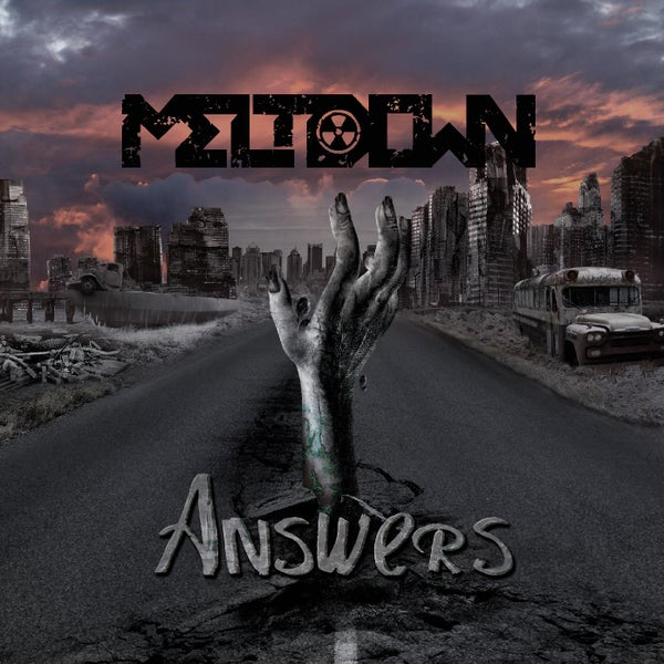 """Image of Meltdown - """"Answers"""" CD and guitar pick"""