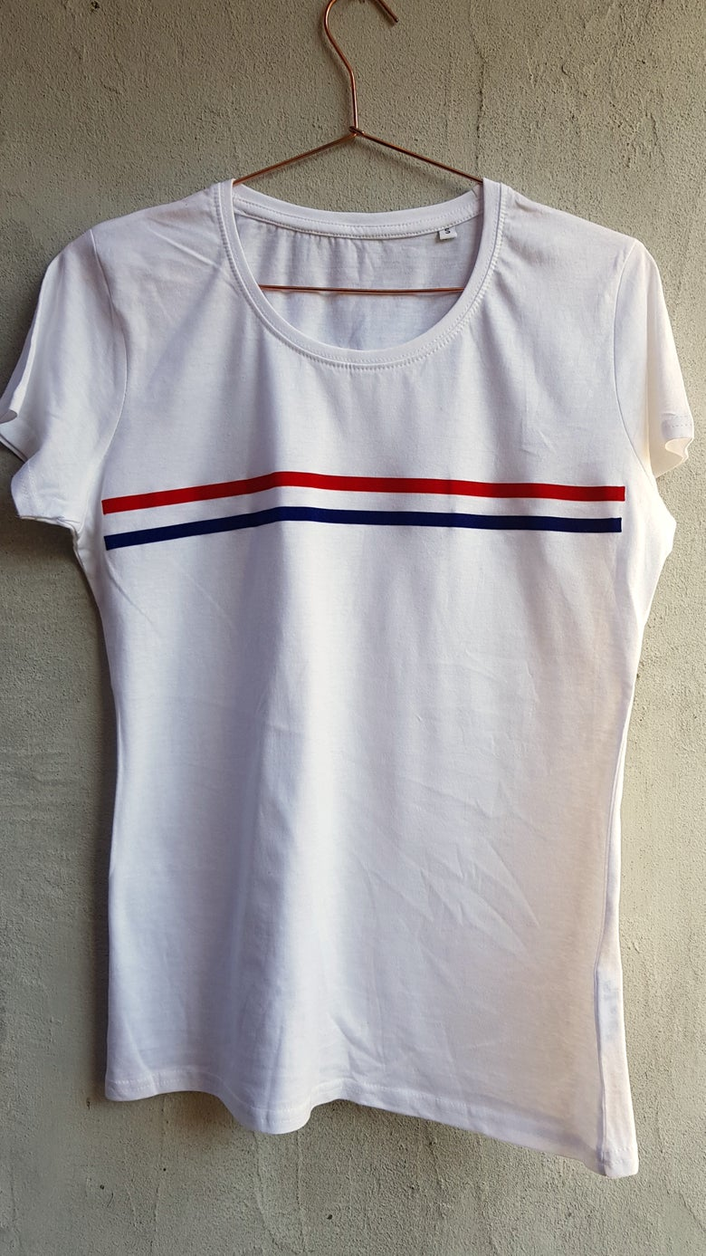 Image of Female Soft stripe T-shirt