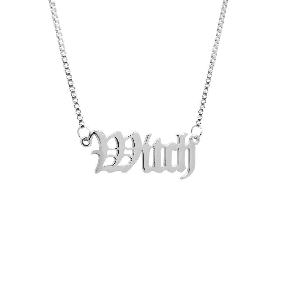 Image of 'Witch' Script Necklace