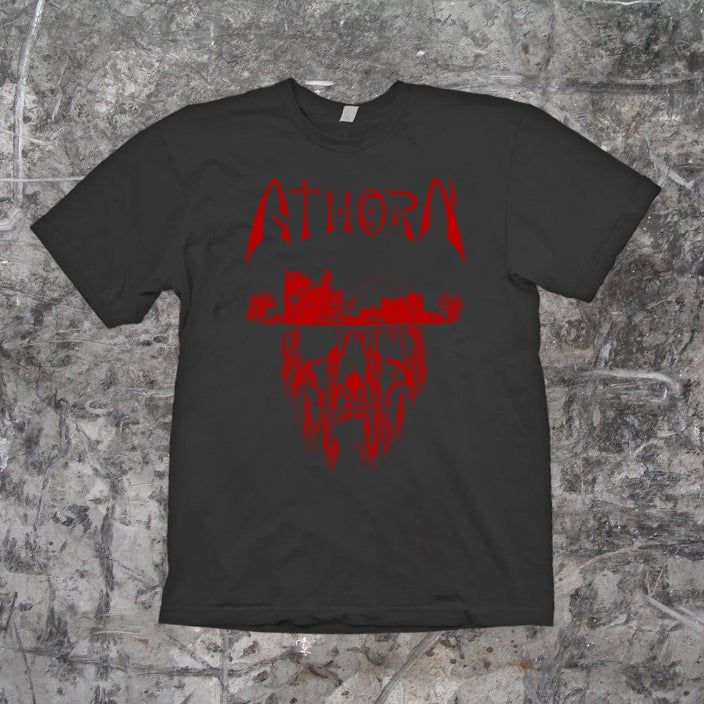 "Image of ATHORN - ""Skullhead"" Shirt (charcoal)"