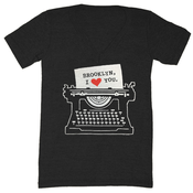 Image of Brooklyn Typewriter V-Neck - Unisex XXS