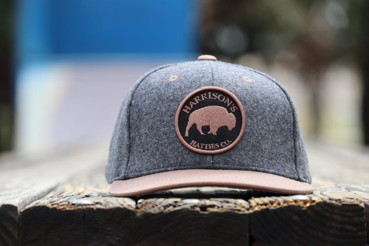 Image of Harrison's Hatties 'Lone Buffalo' Snap Back Hat
