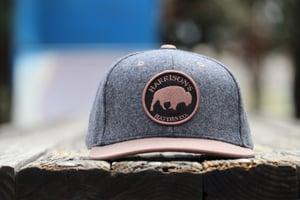 Image of Harrison's Hatties 'Lone Buffalo' Snap Back Hat