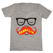 Image of Brooklyn Mustache V-Neck - Unisex LG, XL