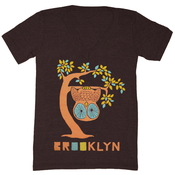 Image of BK Tree Owl V-Neck - Unisex XS, XL