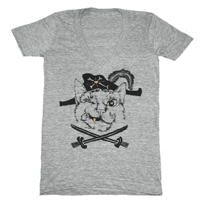 Image of Pirate Cat V-Neck