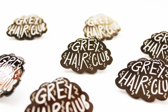 Image of Grey Hair Club Enamel Pin