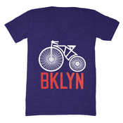 Image of Brooklyn Bicycle V-Neck - Unisex XS, SM, LG, XL