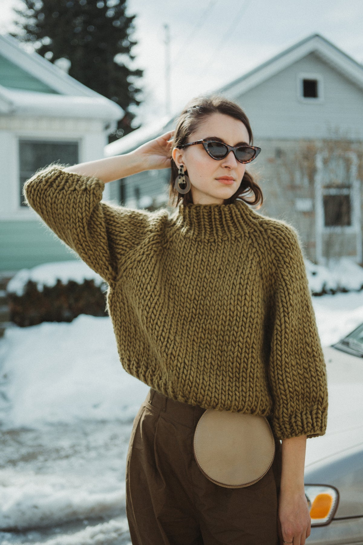 Image of PRE-ORDER Strathcona Sweater (shown in Lichen, more colours)