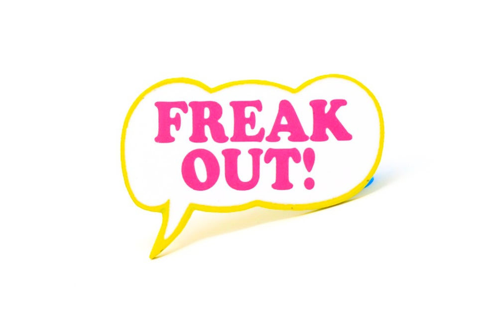 Image of Freak Out Bubble Enamel Pin
