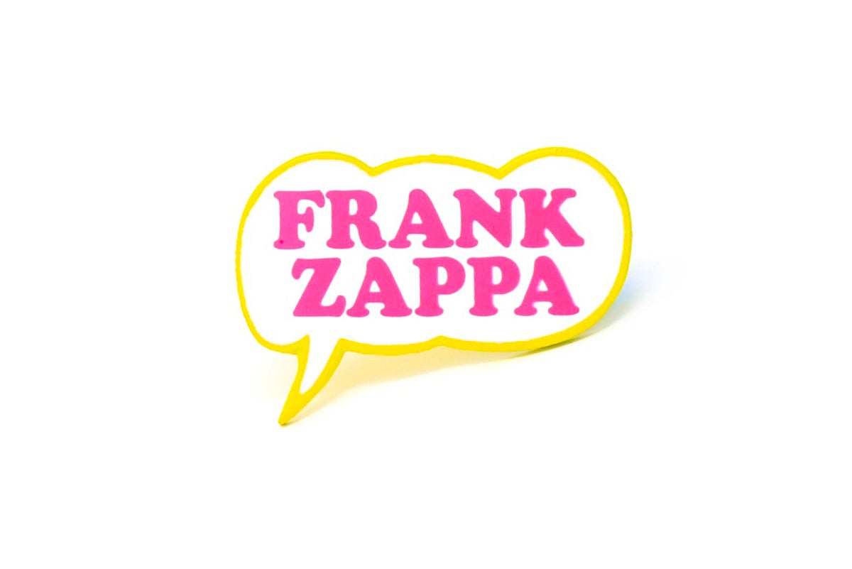 Image of Frank Zappa Bubble Enamel Pin