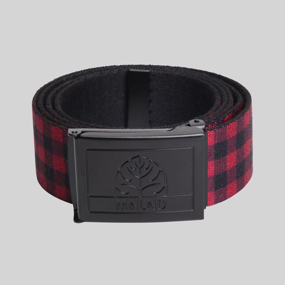 Image of Black/Plaid Cut Clamp Belt