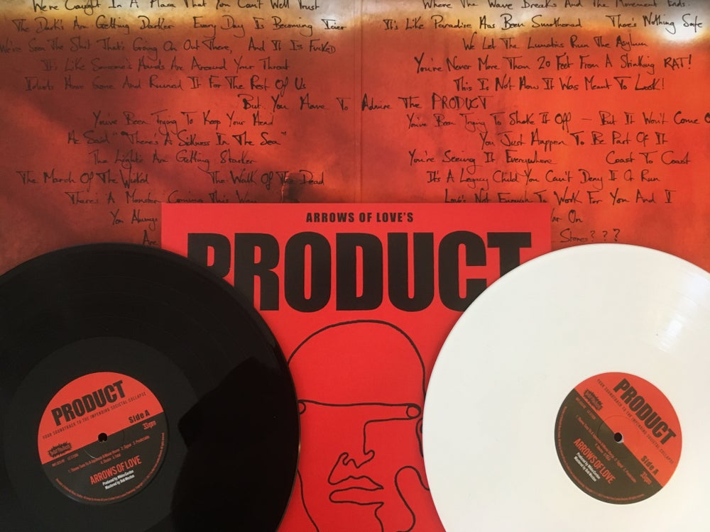 "Image of 'PRODUCT' ALBUM GATEFOLD  12"" VINYL - IN WHITE OR BLACK VINYL"