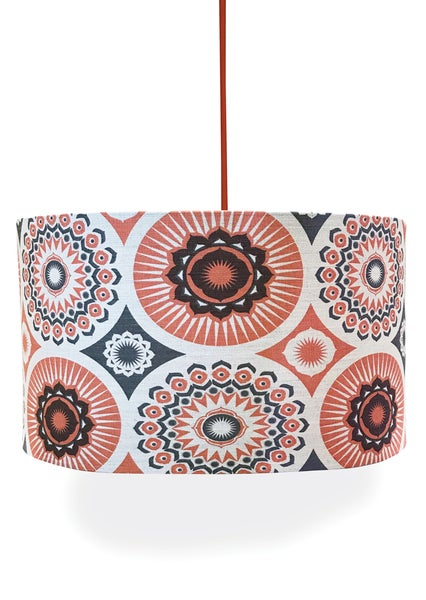 Image of Darjeeling Linen Lampshade - Harvest Orange