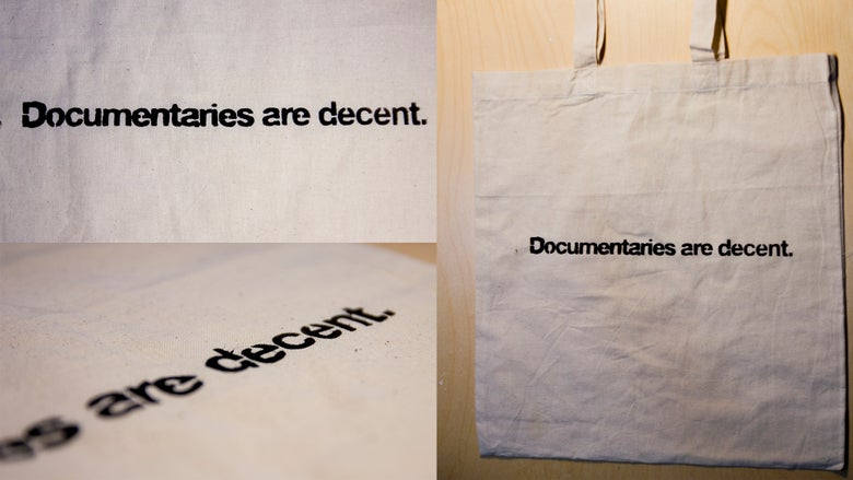Image of Documentaries are Decent - Tote Bag