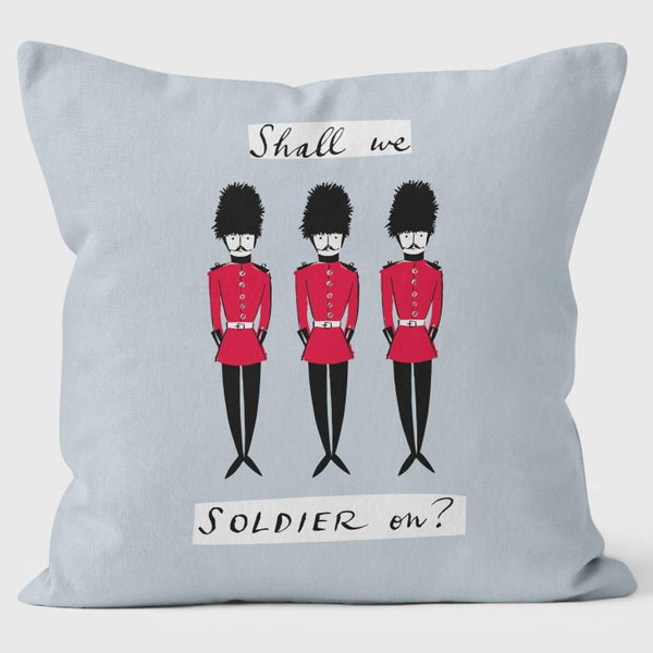 Alice Tait London Soldiers Cushion, Grey - Alice Tait Shop