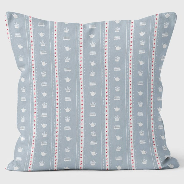 Alice Tait London Soldiers Cushion, White - Alice Tait Shop