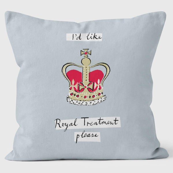 Alice Tait London Crown Cushion, Grey - Alice Tait Shop