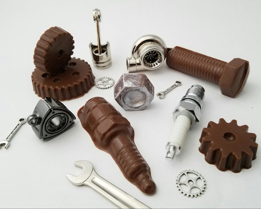 Image of Chocolate Car Parts & Tools