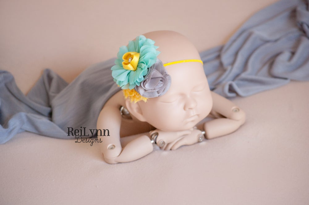 Image of Ella Cluster Newborn Headband