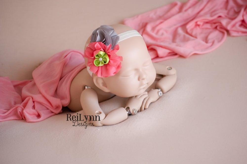 Image of Mia Cluster Newborn Headband