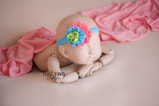 Image of Evelyn Cluster Newborn Headband