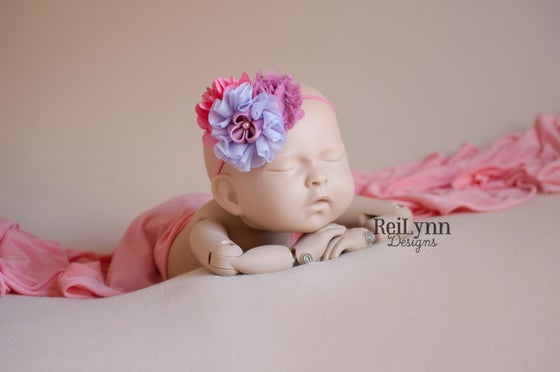 Image of Brooklyn Cluster Newborn Headband