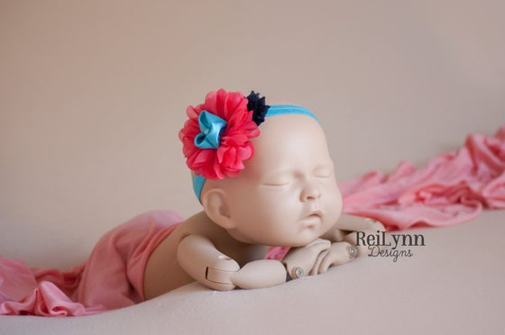 Image of Elena Cluster Newborn Headband