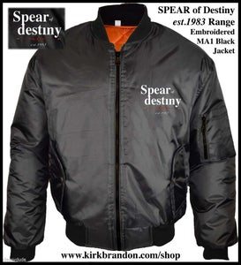 Image of SPEAR of DESTINY est.1983 Range MA1 Black Jacket